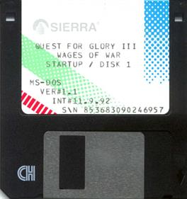 Quest For Glory III: Wages of War - Disc