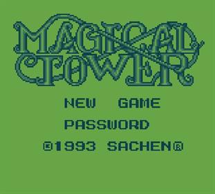 Magic Tower - Screenshot - Game Title
