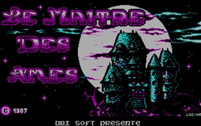 Le Maître des Âmes - Screenshot - Game Title