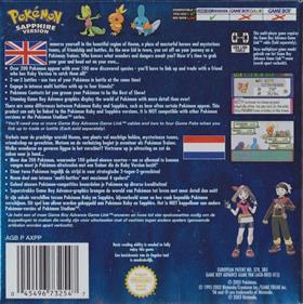 Pokémon Sapphire Version - Box - Back