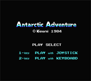 Antarctic Adventure - Screenshot - Game Title