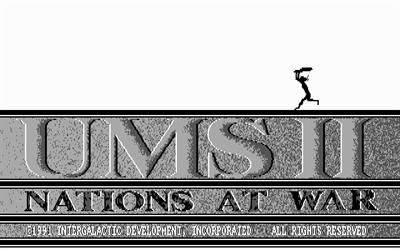 UMS II: Nations at War - Screenshot - Game Title