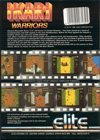 Ikari Warriors (Europe) - Box - Back