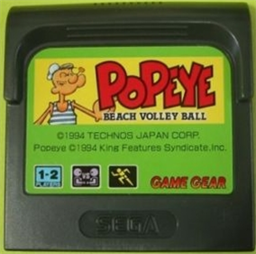 Popeye Beach Volley Ball - Cart - Front