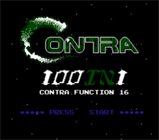 100-in-1 Contra 16 Function - Screenshot - Game Title