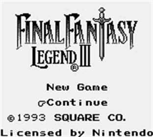 Final Fantasy Legend III - Screenshot - Game Title