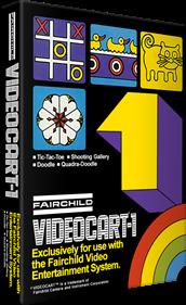 Videocart-1: Tic-Tac-Toe & Shooting Gallery & Doodle & Quadra-Doodle - Box - 3D