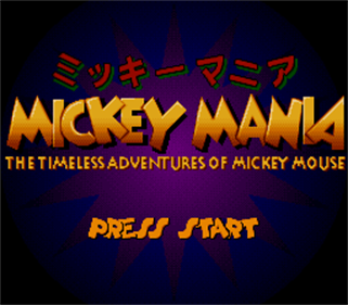 Mickey Mania: The Timeless Adventures of Mickey Mouse - Screenshot - Game Title