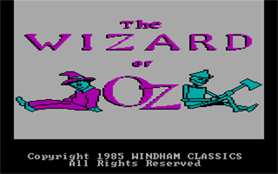 The Wizard of Oz - Screenshot - Game Title