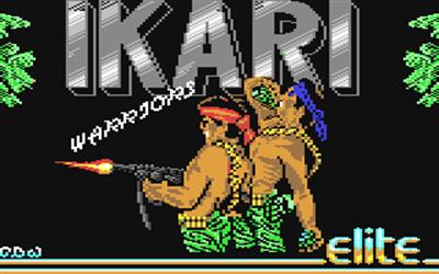 Ikari Warriors (Europe) - Screenshot - Game Title