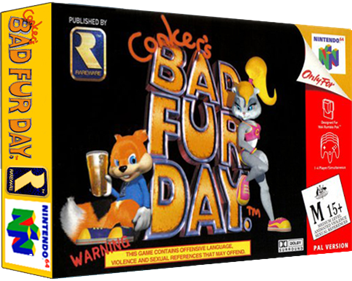 Conker's Bad Fur Day - Box - 3D