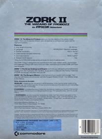 Zork II: The Wizard of Frobozz - Box - Back