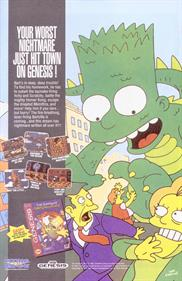 The Simpsons: Bart's Nightmare - Advertisement Flyer - Front