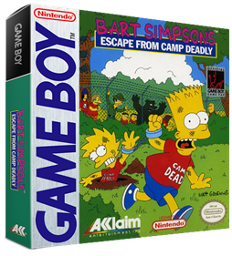 Bart Simpson's Escape from Camp Deadly - Box - 3D