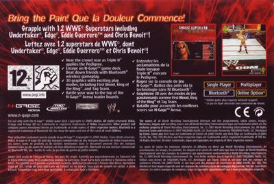 WWE: Aftershock - Box - Back