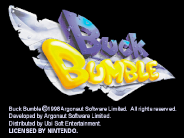 Buck Bumble - Screenshot - Game Title