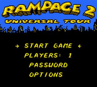 Rampage 2: Universal Tour - Screenshot - Game Title