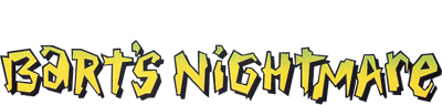 The Simpsons: Bart's Nightmare - Clear Logo