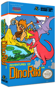 Adventures of Dino Riki - Box - 3D