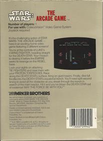 Star Wars: The Arcade Game - Box - Back