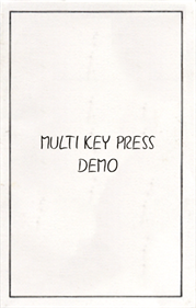 Multi Key Press Demo