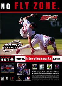 Interplay Sports Baseball 2000 - Advertisement Flyer - Front
