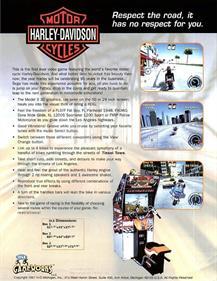 Harley-Davidson & L.A. Riders - Advertisement Flyer - Back