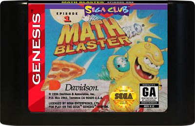 Math Blaster: Episode 1 - Cart - Front