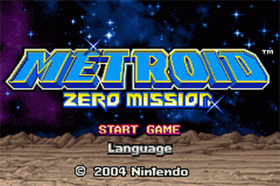 Metroid: Zero Mission - Screenshot - Game Title