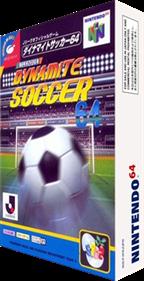 J.League Dynamite Soccer 64 - Box - 3D