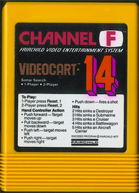 Videocart-14: Sonar Search - Cart - Front
