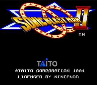 Sonic Blast Man II - Screenshot - Game Title