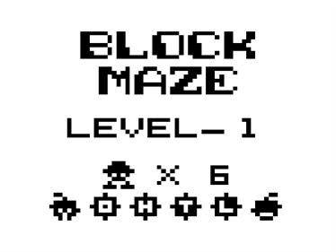 Block Maze - Screenshot - Game Title