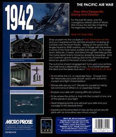 1942: The Pacific Air War - Box - Back