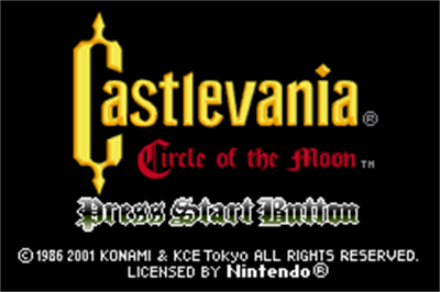 Castlevania: Circle of the Moon - Screenshot - Game Title