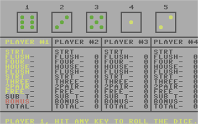 Dice Poker - Screenshot - Gameplay