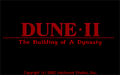 Dune II: The Building of a Dynasty - Screenshot - Game Title