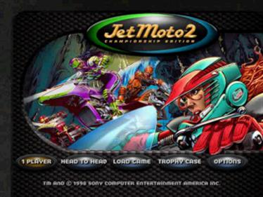 Jet Moto 2 - Screenshot - Game Title