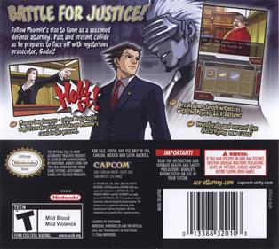 Phoenix Wright: Ace Attorney: Trials and Tribulations - Box - Back