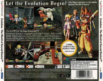 Evolution: The World of Sacred Device - Box - Back