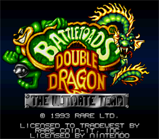 Battletoads / Double Dragon - Screenshot - Game Title