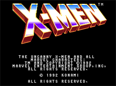 X-Men - Screenshot - Game Title