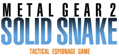 Metal Gear 2: Solid Snake - Clear Logo