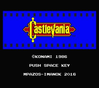 Castlevania - Screenshot - Game Title