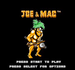 Joe & Mac - Screenshot - Game Title
