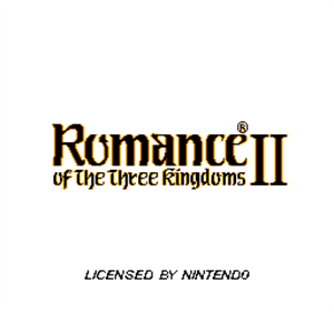 Romance of the Three Kingdoms II - Screenshot - Game Title