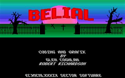 Belial - Screenshot - Game Title