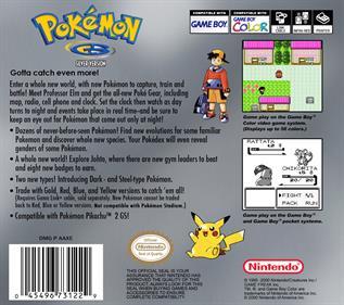 Pokémon Silver Version - Box - Back