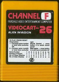Videocart-26: Alien Invasion - Cart - Front
