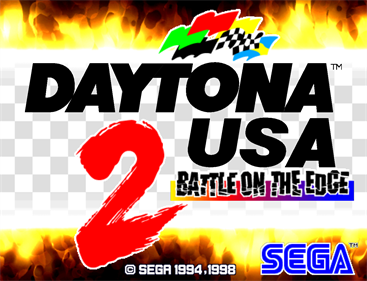Daytona USA 2: Battle on the Edge - Screenshot - Game Title